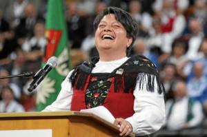 überglückliche Zentralpräsidentin Karin Niederberger