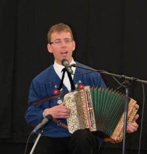 Guido Gassmann bei seiner musikalischen Predigt